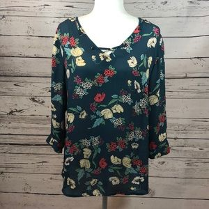 Maurices Size Large Floral Blouse